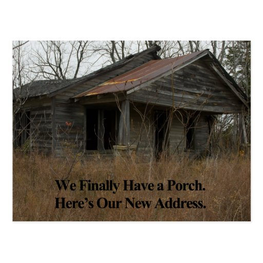 Change of Address Card: New Porch Post Cards