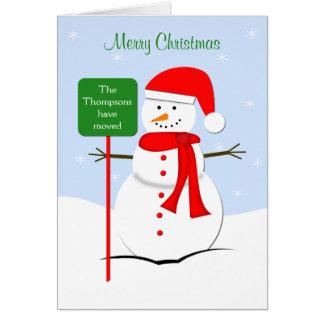 Change of Address Christmas Card