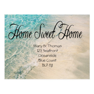 Change of address Coastal Postcard Home Sweet Home