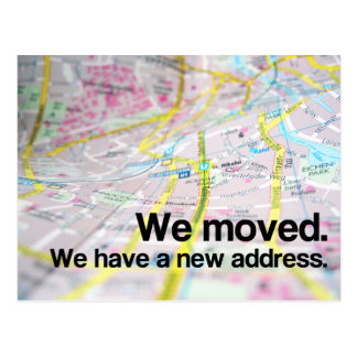 Change of Address (Contemporary Map) Postcard
