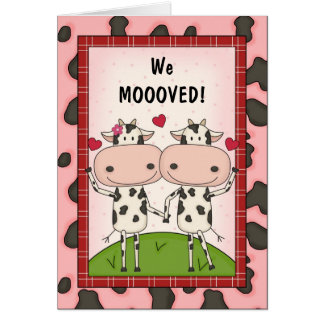 Change of Address - Cows Card