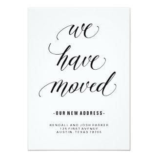Change of Address in Modern Calligraphy 13 Cm X 18 Cm Invitation Card