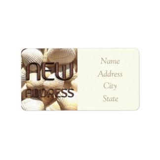 Change of Address Labels Sea Shells Funny Bricks