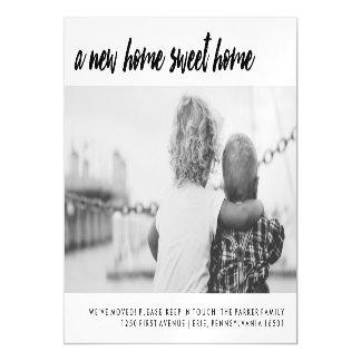 Change of Address | Modern Family Photo Magnetic Invitations