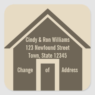 Change of Address Moving Announcement Sticker