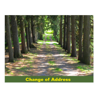 Change of Address - notification postcard