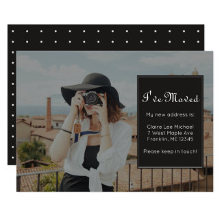 Change of Address Photo and Pretty Dots Card