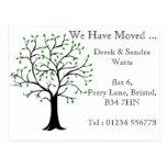 Change of address postcard we have moved tree