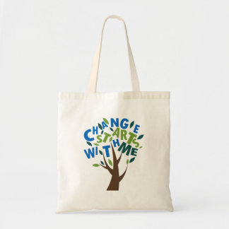 Change starts with me tote bag