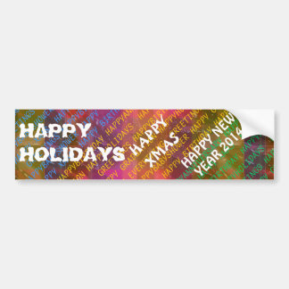 Change Text :  NEWYEAR HOLIDAYS CHRISTMAS XMAS DIY Bumper Stickers