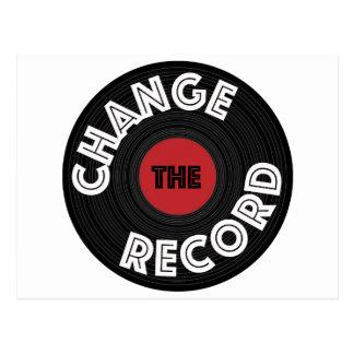 Change the Record Postcard