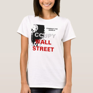 CHANGE THE WORLD OCCUPY WALL STREET T-Shirt