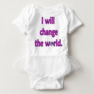 Change the World Pink Baby Bodysuit