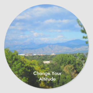 Change Your Altitude Pun Stickers