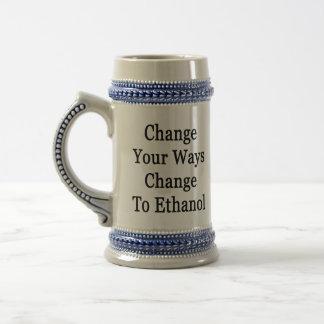 Change Your Ways Change To Ethanol Coffee Mug