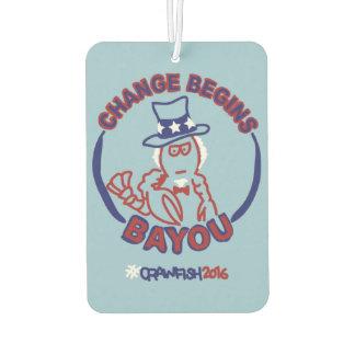 #ChangeBeginsBayou Car Air Freshener
