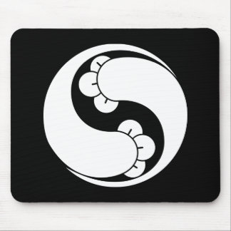 Changed shape two clove swirls mouse pad