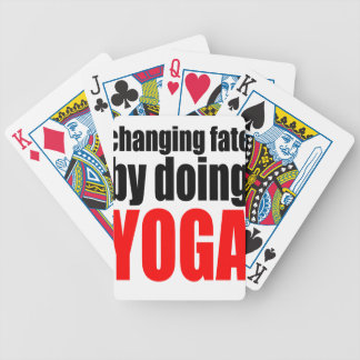 CHANGING FATE doing yoga lazy workout wife husband Bicycle Playing Cards