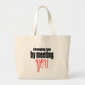 changing fate meeting you flirting technique prom large tote bag