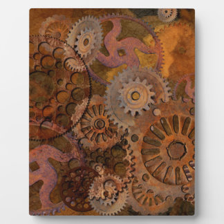 Changing Gear - Steampunk Gears & Cogs Plaque