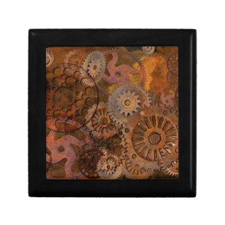 Changing Gear - Steampunk Gears & Cogs Small Square Gift Box