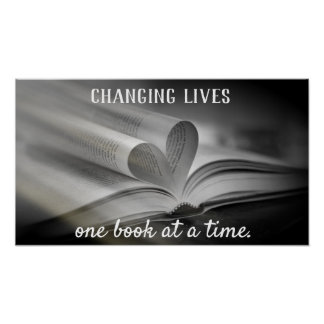 Changing Lives One Book at a Time Poster