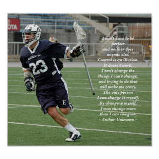 Changing Myself Lacrosse Poster