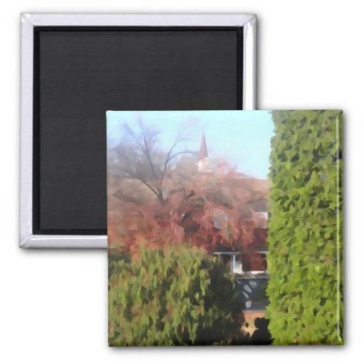 Changing Seasons Fridge Magnet