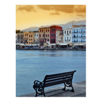 Chania at dusk, Chania, Crete, Greece Postcard