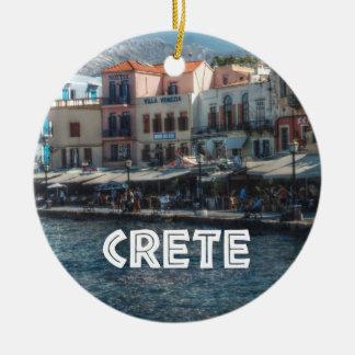 Chania Crete Greek Islands Ceramic Ornament