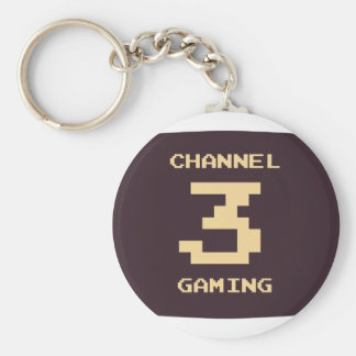 Channel 3 Gaming Basic Round Button Key Ring