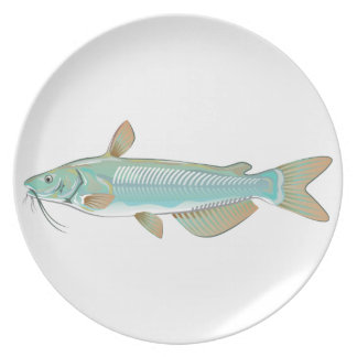 Channel catfish game fish farm fish seafood market dinner plates