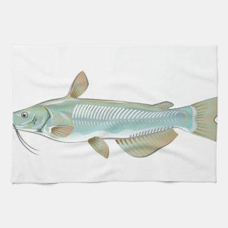 Channel catfish game fish farm fish seafood market tea towels