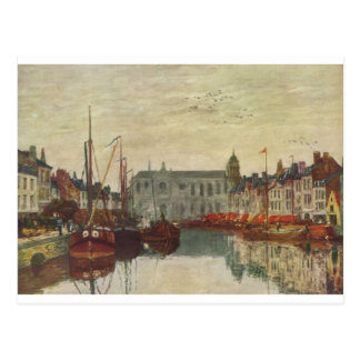 Channel in Brussels by Eugene Boudin Postcard