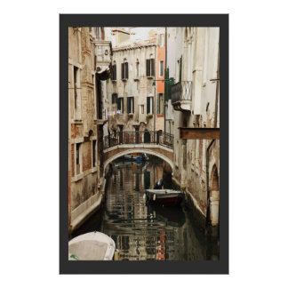 Channel in Venice poster