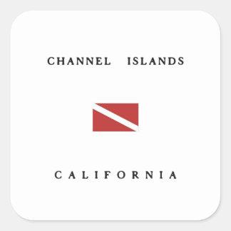 Channel Islands California Scuba Dive Flag Square Sticker