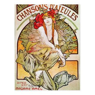 Chansons D'aieules Vintage Theatre Advertisement Postcard
