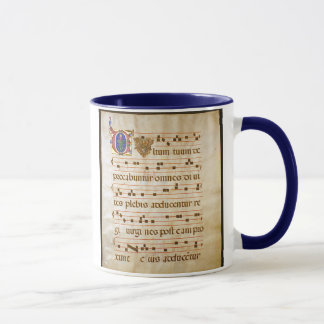 "chant manuscript.jpg, Gregorian Chant:, The ""cu... Mug"