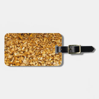 Chanterelles mushrooms luggage tag