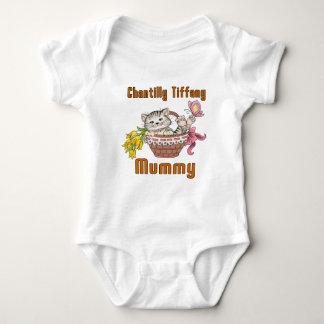 Chantilly Tiffany Cat Mom Baby Bodysuit