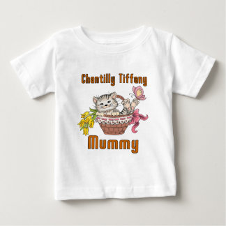 Chantilly Tiffany Cat Mom Baby T-Shirt