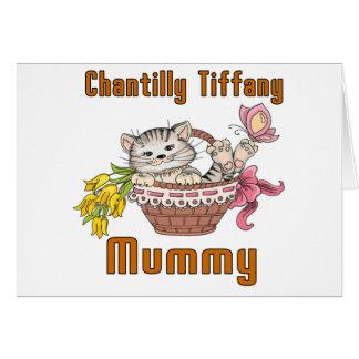 Chantilly Tiffany Cat Mom Card