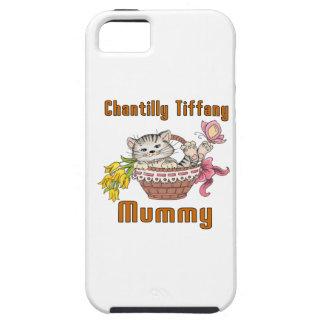 Chantilly Tiffany Cat Mom iPhone 5 Case