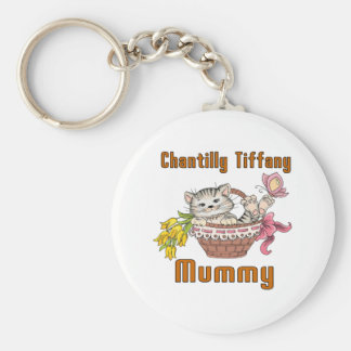 Chantilly Tiffany Cat Mom Key Ring