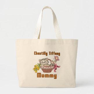 Chantilly Tiffany Cat Mom Large Tote Bag