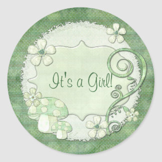 Chantily Whimsical Mixed Media Classic Round Sticker