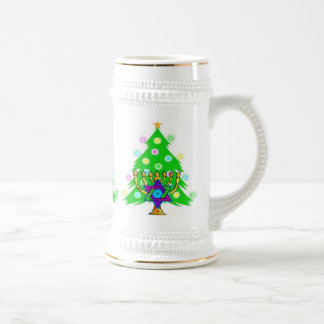 Chanukah and Christmas Beer Stein