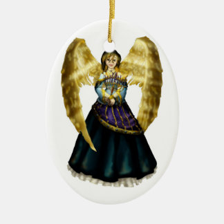 Chanukah Angel Ceramic Ornament