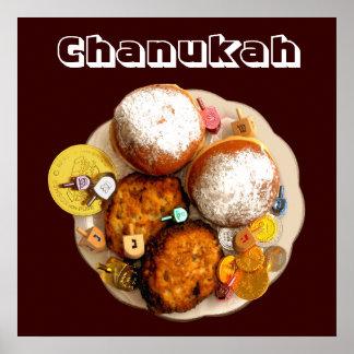 Chanukah Delicacies & Gelt Poster