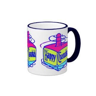 Chanukah Dreidel Ringer Coffee Mug